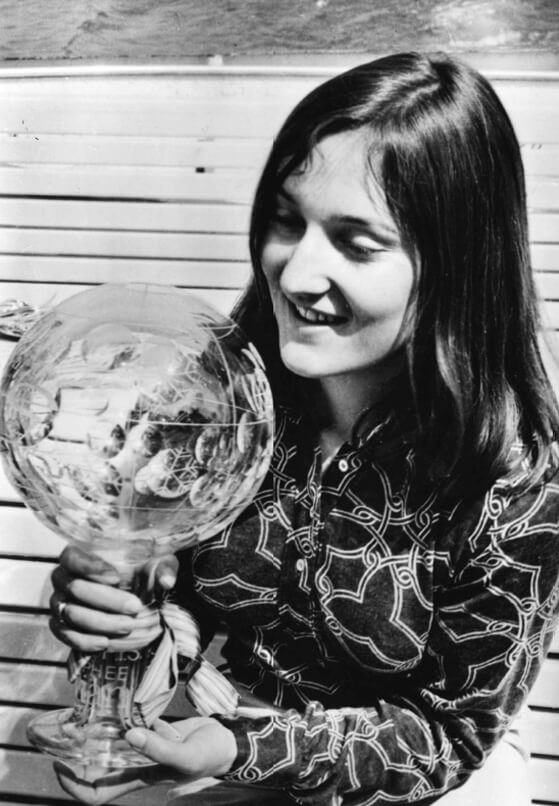 Michèle Jacot - Overall and Combined Crystal Globe Winner in 1970